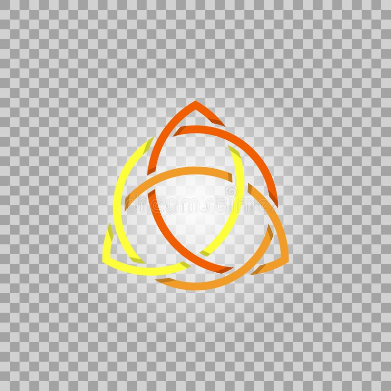 Triquetra в круге, символе вектора трилистника обрядовом иллюстрация вектора