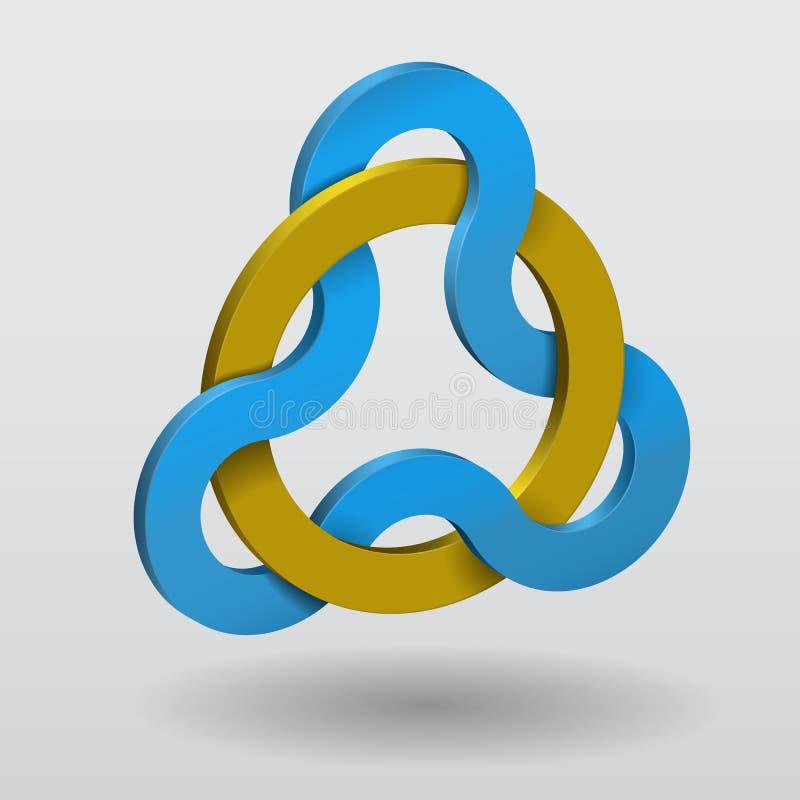 Triquetra céltico del nudo con el anillo stock de ilustración