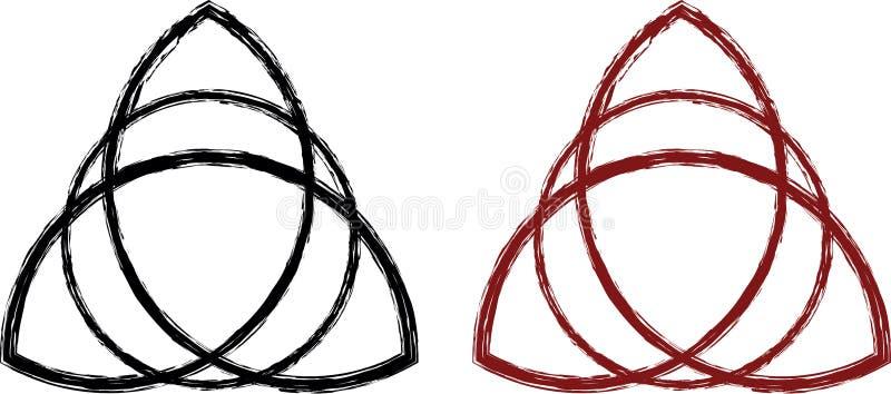 Triquetra celta estilizado ilustração royalty free