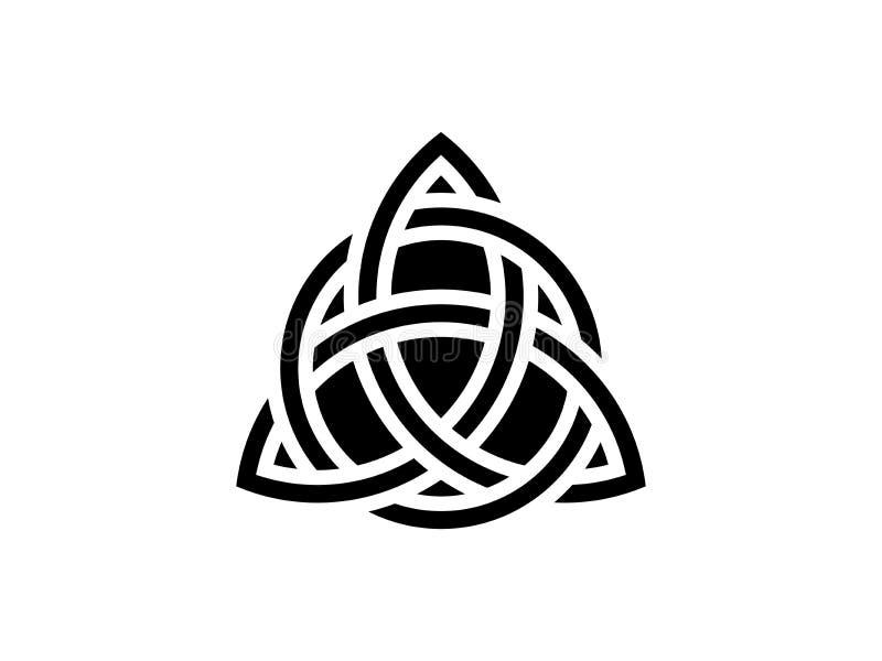 Triquetra Drievuldigheidsknoop Keltisch symbool van eeuwigheid Vector royalty-vrije illustratie