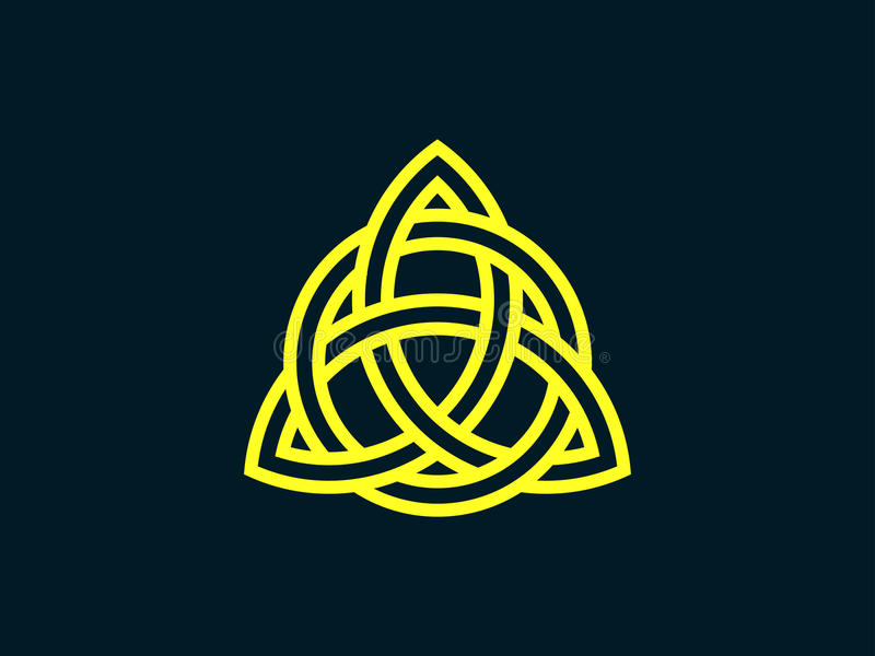 Triquetra Nó da trindade Símbolo celta da eternidade Vetor ilustração royalty free