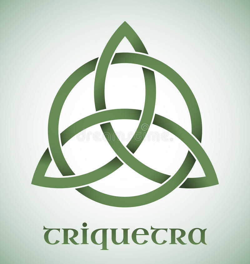 Triquetra-Symbol mit Steigungen stock abbildung