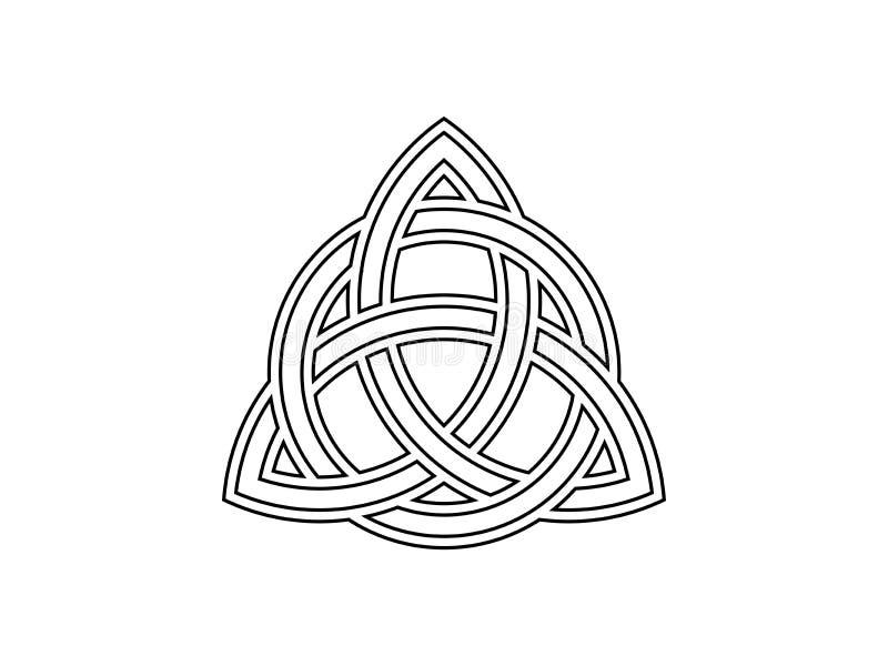 Triquetra Treenighetfnuren Keltiskt symbol av evighet vektor royaltyfri illustrationer