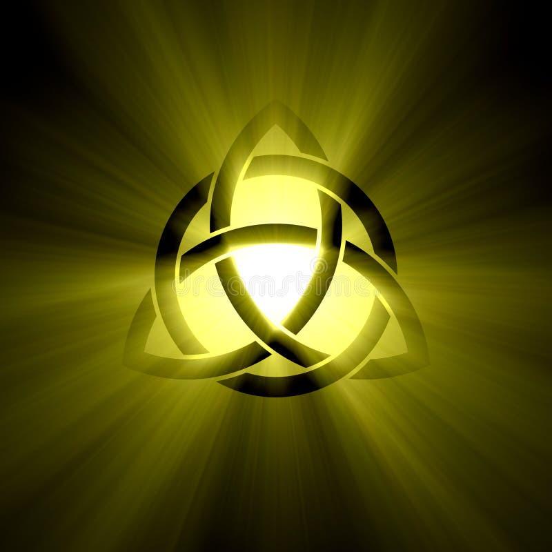 Triquetra Trinity Symbol Halo Light Flare Stock Photo Image Of