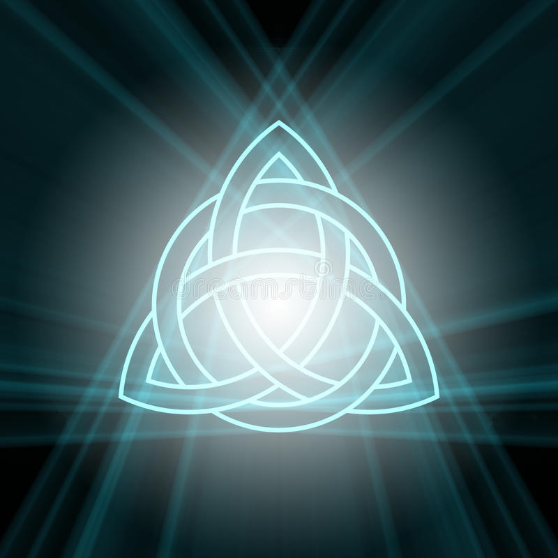 Free Triquetra Trinity Knot With Light Flare Stock Photos - 39720033