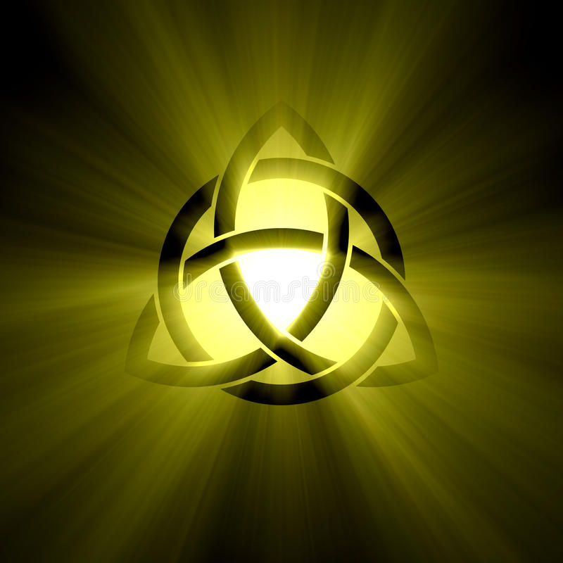 Free Triquetra Trinity Symbol Halo Light Flare Royalty Free Stock Photos - 43363428
