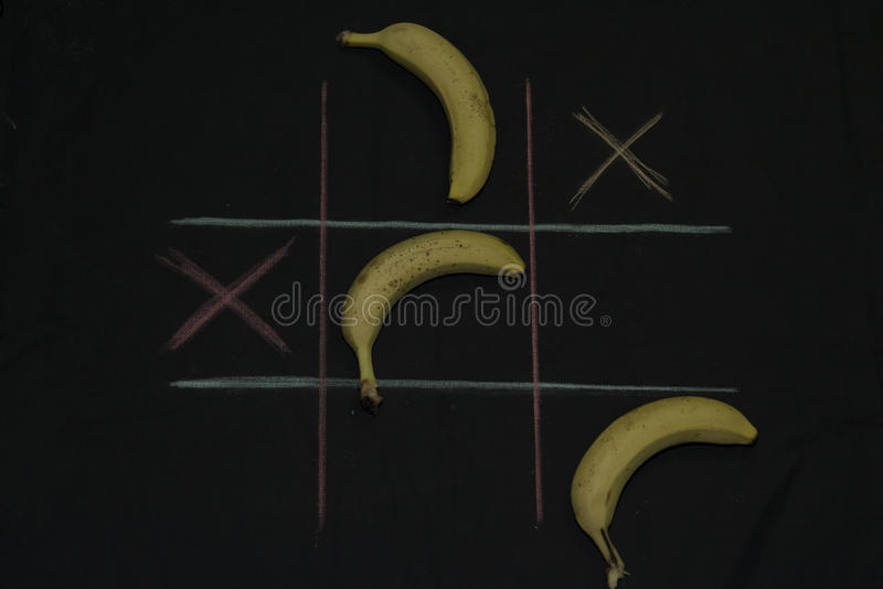 Tris Game with fruit stock image