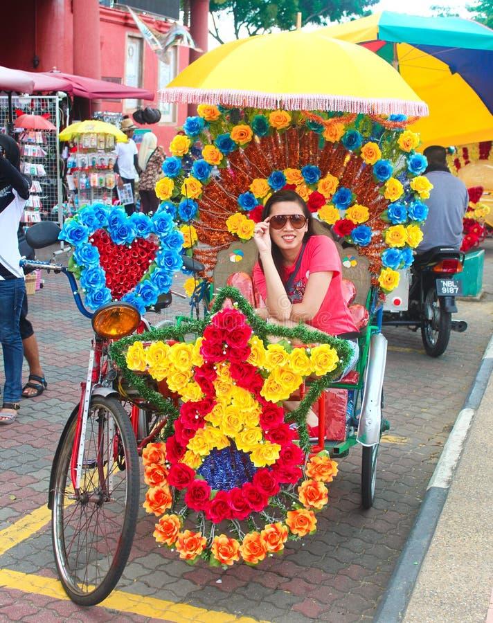 Trishaw em Melaka, Malaysia imagens de stock royalty free