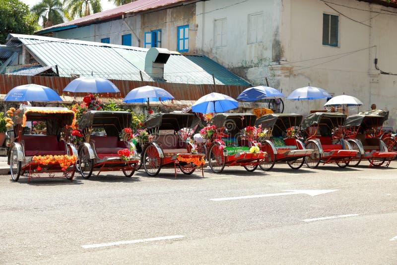 Trishaw en Penang, Malasia foto de archivo