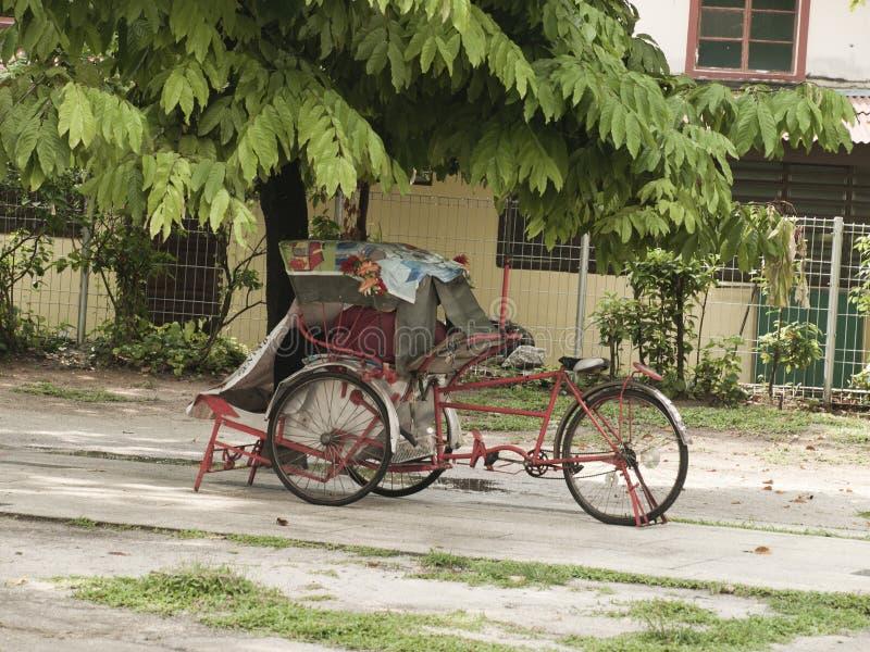 Trishaw in George Town lizenzfreies stockbild