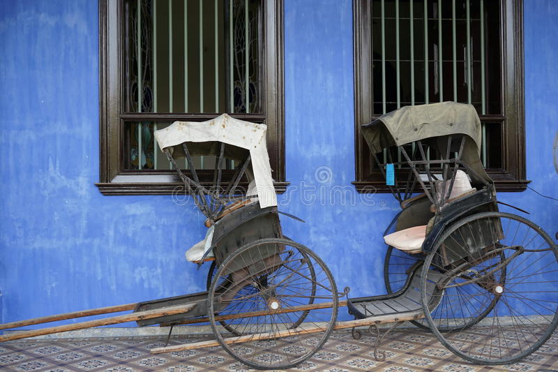 Trishaw stock photography