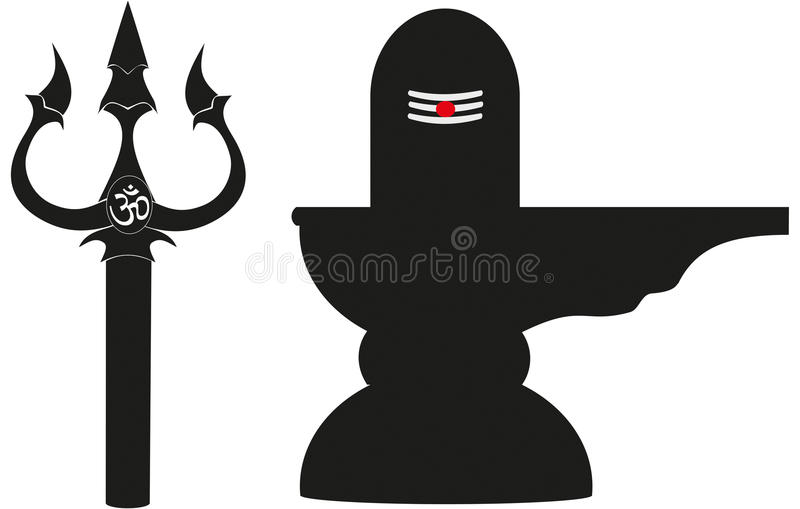 Trishul And Lingam Stock Illustration Illustration Of Symbol 35463086