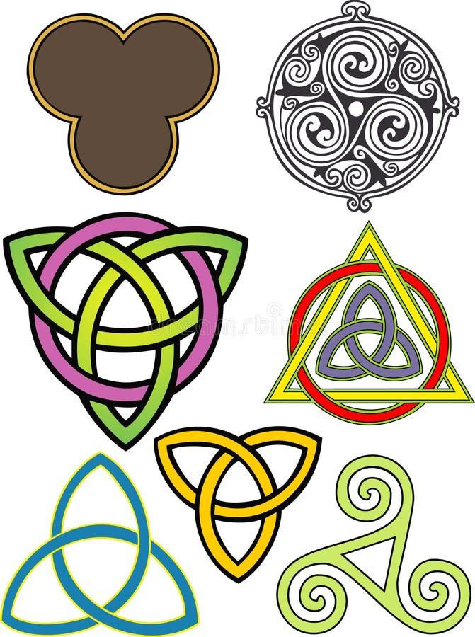 Triskeleons illustration stock