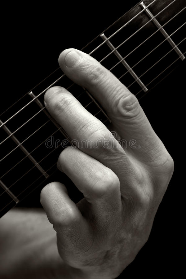 The Tristan Chord On Electric Guitar (lower Four Strings) Stock ...