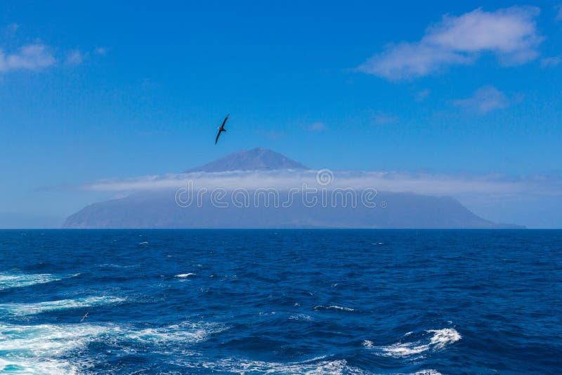 Tristan da Cunha den mest avlägsna ön, södra Atlantic Ocean royaltyfri foto