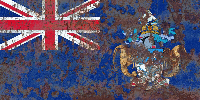 Tristan da Cunha grungeflagga, brittiska utländska territorier, britt arkivfoton