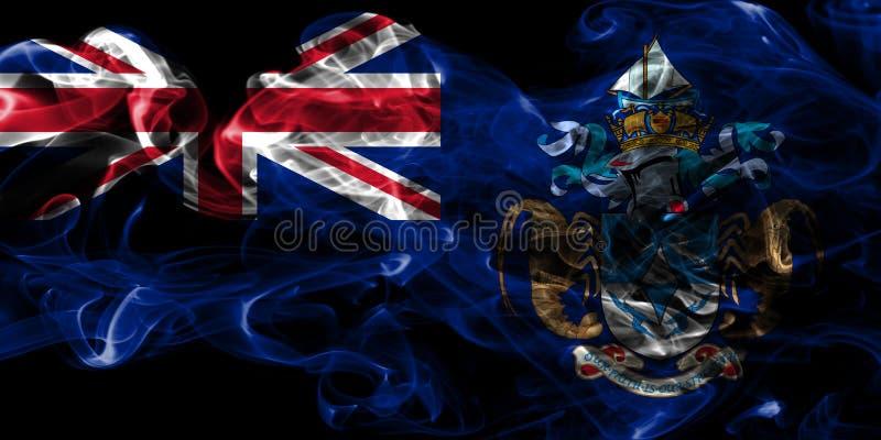Tristan da Cunha rökflagga, beroende territorium flagga för brittiska utländska territorier, Britannien royaltyfri illustrationer