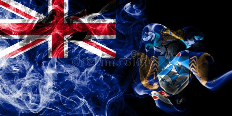 Tristan da Cunha rökflagga, beroende territorium flagga för brittiska utländska territorier, Britannien stock illustrationer