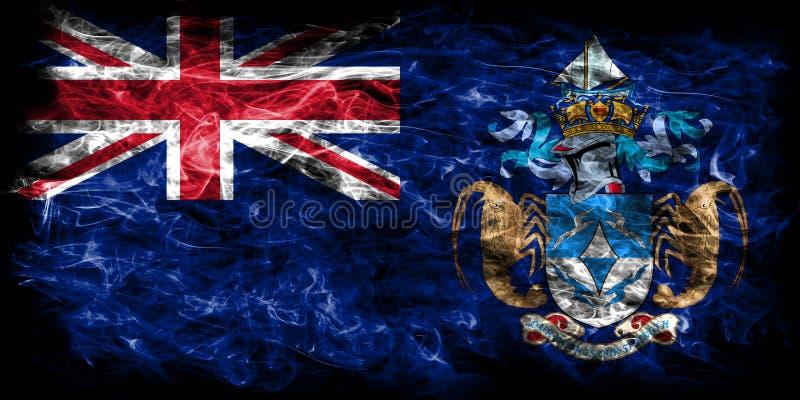 Tristan da Cunha rökflagga, brittiska utländska territorier, Brita vektor illustrationer