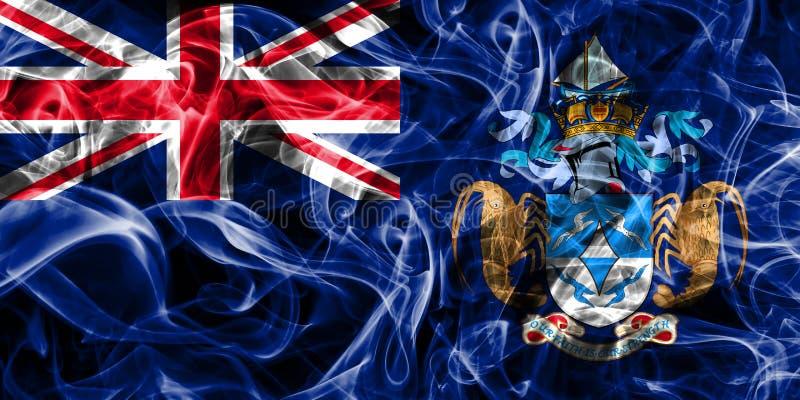 Tristan da Cunha rökflagga, brittiska utländska territorier, Brita royaltyfri illustrationer