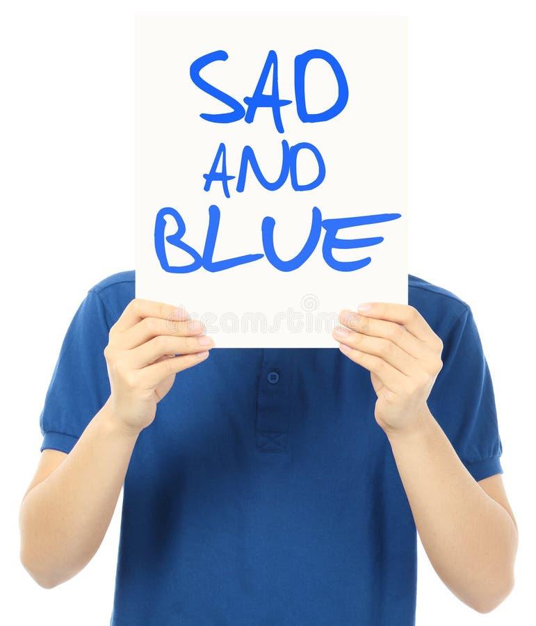 Triste e azul fotos de stock royalty free