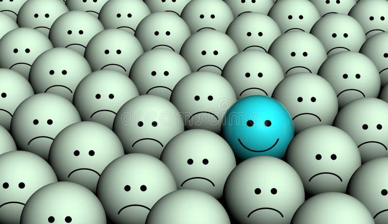 Triste et heureux illustration libre de droits