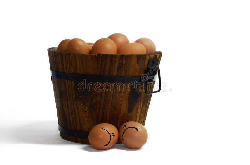 Triste fuera del huevo del grupo fotos de archivo libres de regalías