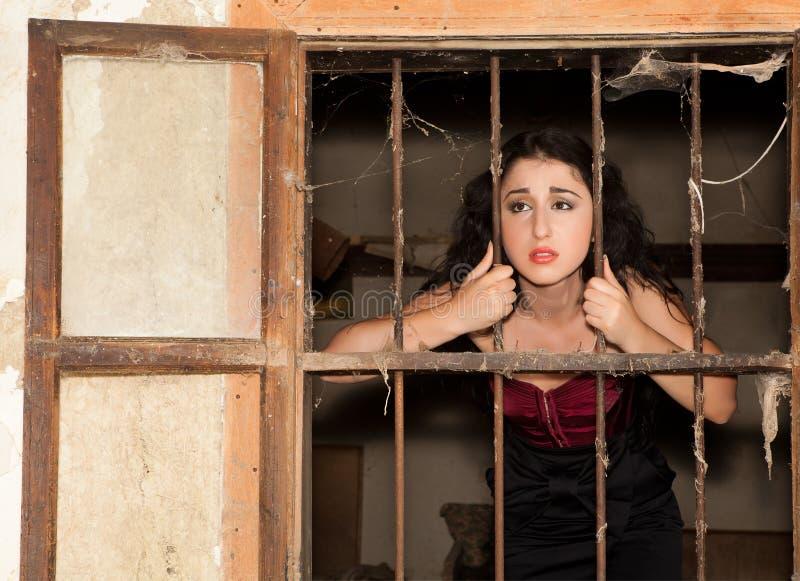 Tristeza da prisão foto de stock