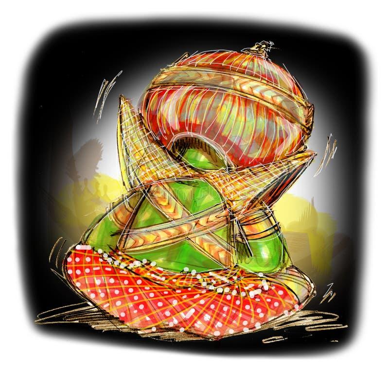 Tristeza gigante tailandesa ilustração royalty free