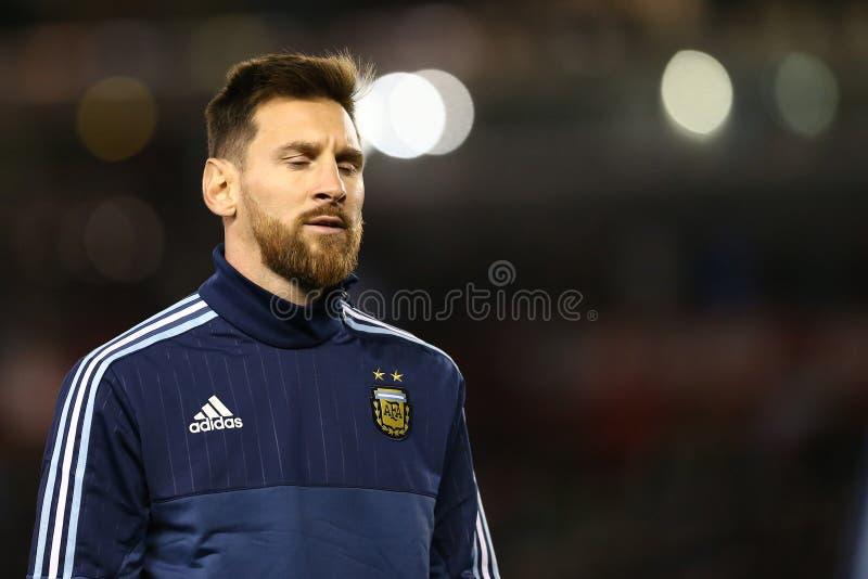 Tristezza di Lionel Messi fotografia stock libera da diritti