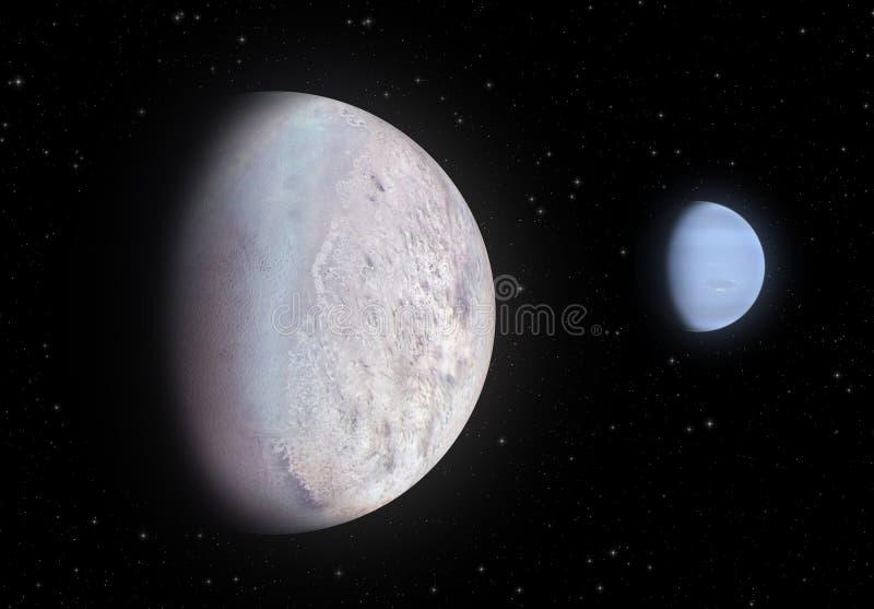 Tritón y Neptuno stock de ilustración