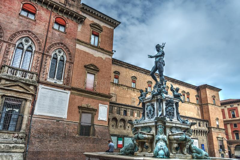 Triton άγαλμα στη Μπολόνια στοκ φωτογραφία