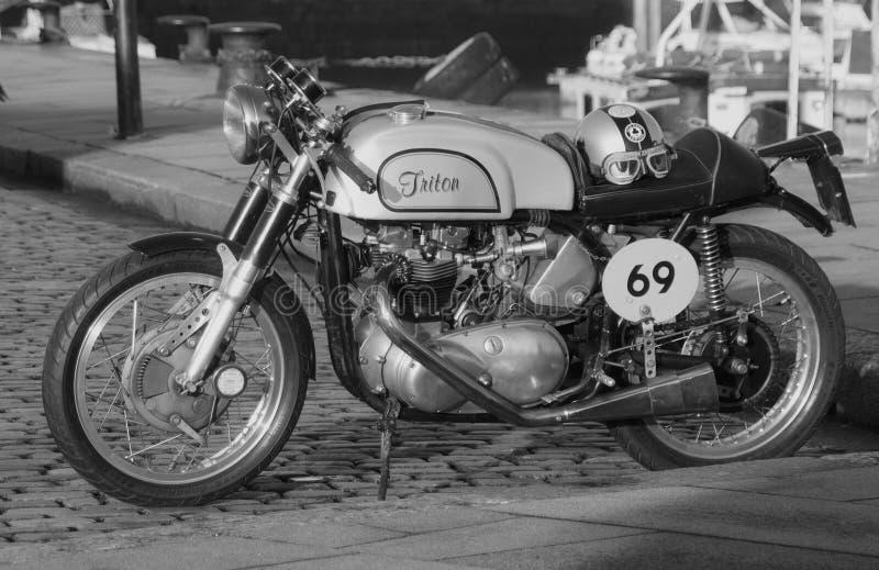 Triton Cafe Racer. 1960s triton cafe racer triumph engine norton frame stock image