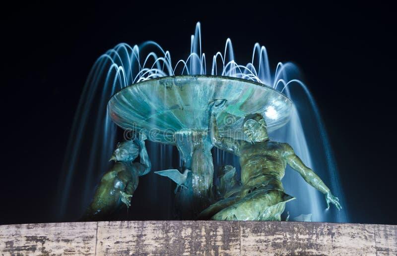 Triton Fountain in Valletta - Malta royalty free stock photography