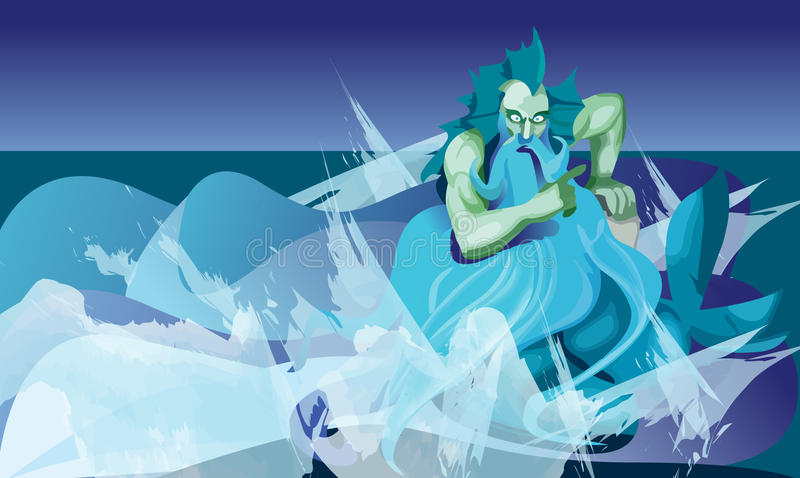 Download Triton, god stock vector. Image of water, ocean, wave - 10874626