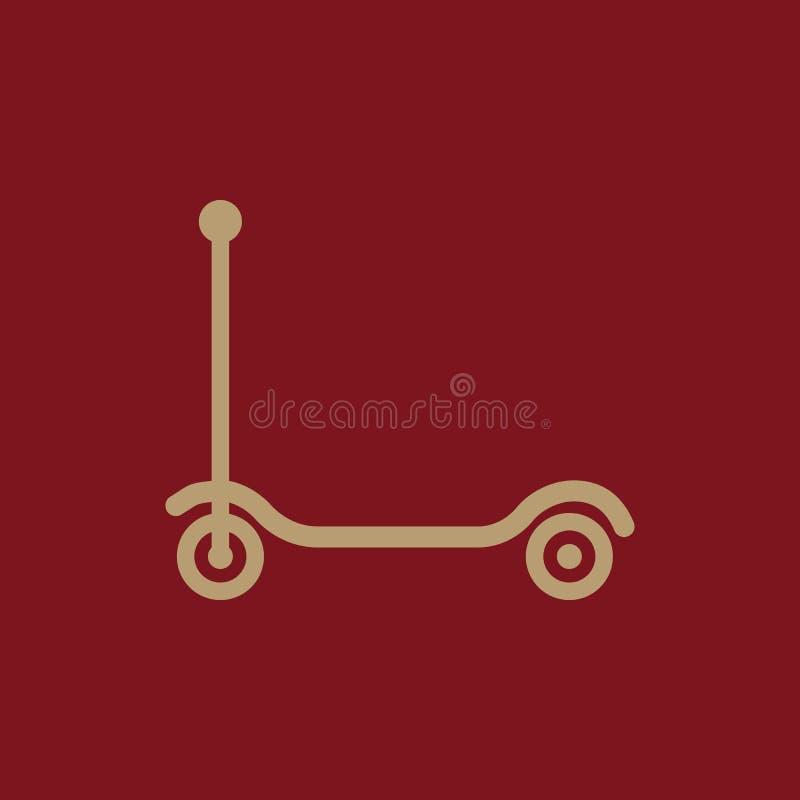Trittrollerikone Entwurf Spielzeug, Trittrollersymbol web graphik ai app zeichen nachricht flach bild zeichen ENV Kunst vektor abbildung