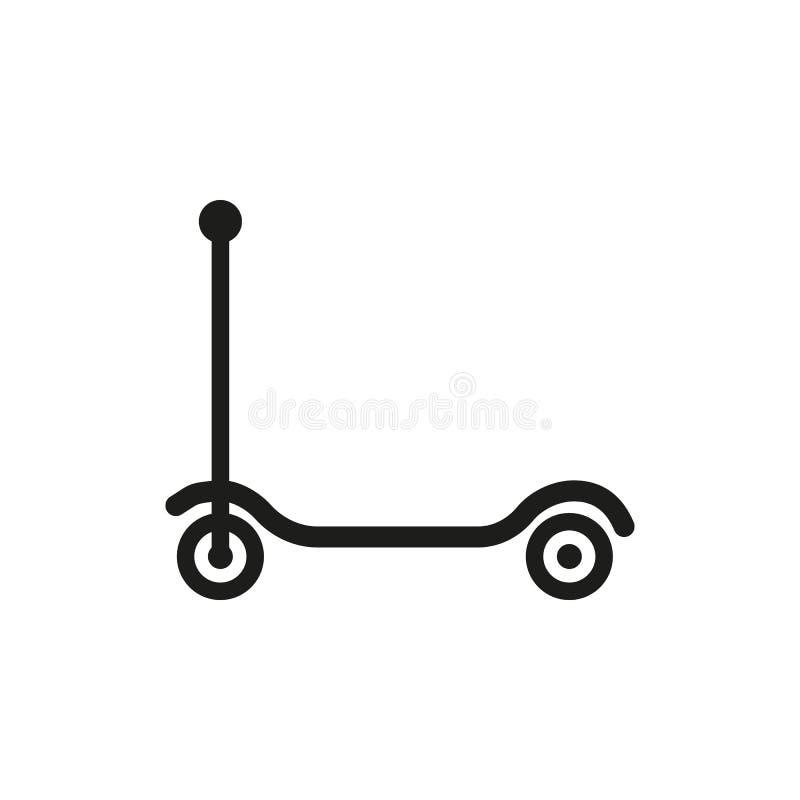 Trittrollerikone Entwurf Spielzeugsymbol web graphik ai app zeichen nachricht flach bild zeichen ENV Kunst Bild - Vorrat stock abbildung