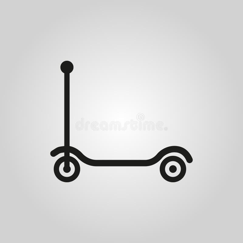 Trittrollerikone Entwurf Spielzeugsymbol web graphik ai app zeichen nachricht flach bild zeichen ENV Kunst Bild - Vorrat vektor abbildung
