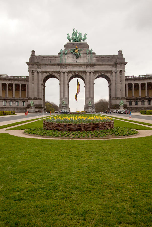 Triumf- båge i Bryssel royaltyfria bilder