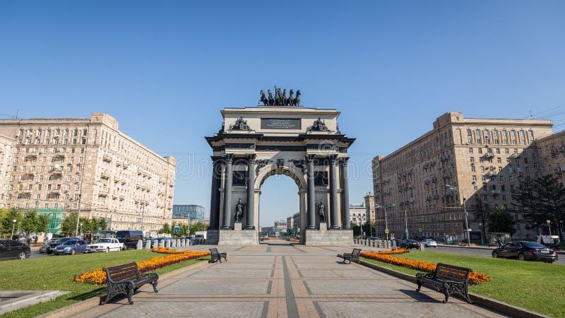 Triumfalnego łuku brama Moskwa obraz stock