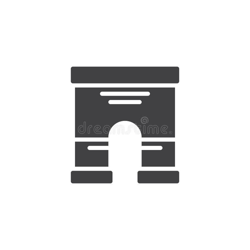 Download Triumfalnego łuku Architektury Ikony Wektor Ilustracja Wektor - Ilustracja złożonej z prosty, pojedynczy: 106919284