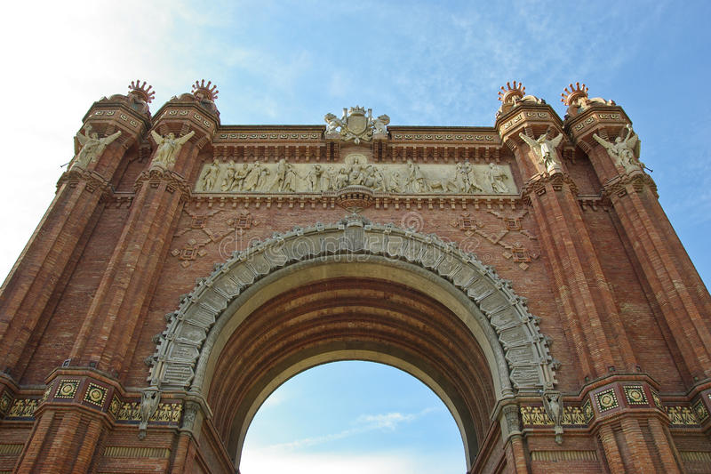 Triumph Arch (Arc de Triomf), Barcelona royalty free stock image