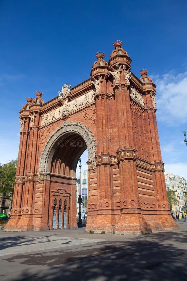 Triumph Arch (Arc De Triomf), Barcelona, Spain Royalty Free Stock Images