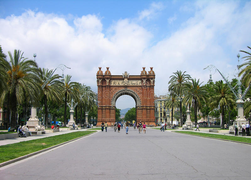 Download Triumph Arch, Barcelona, Spain Royalty Free Stock Photo - Image: 12205705
