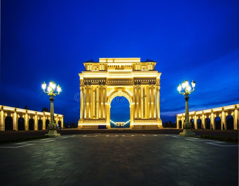 Triumph båge på Februari 15 i Azerb royaltyfria foton