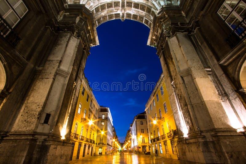 Triumph-Bogen in Lissabon lizenzfreie stockfotografie