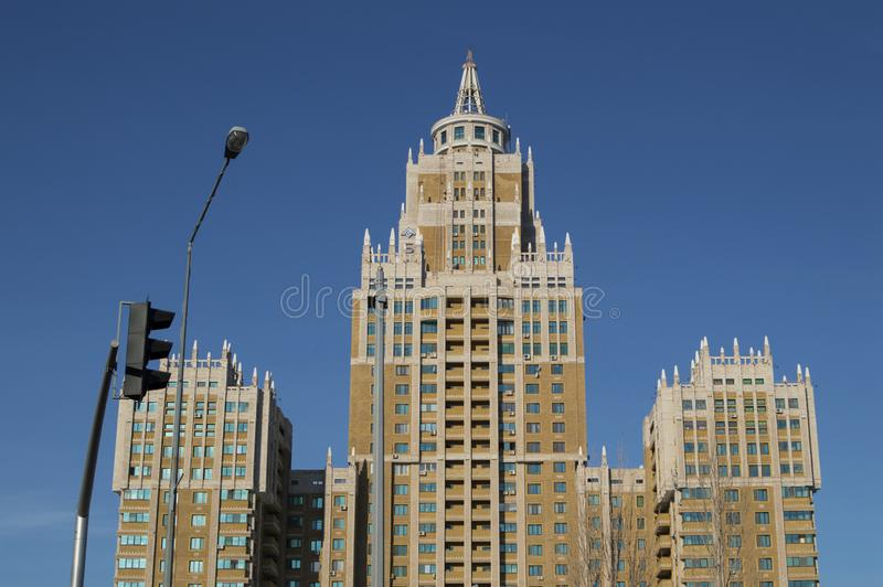 Triumph Building in Astana, Kazakhstan.  royalty free stock images