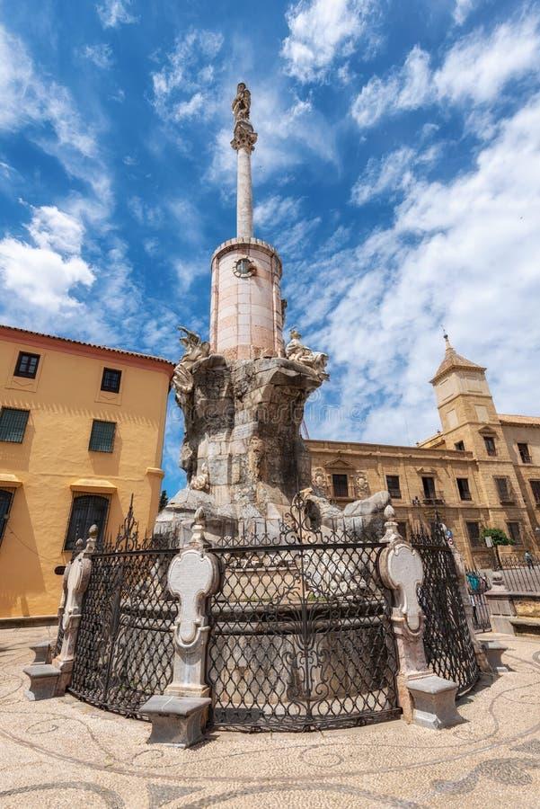 Triumph del san Raphael Triunfo de San Rafael è un monumento a Raphael di arcangelo costruito nel diciassettesimo fotografia stock libera da diritti