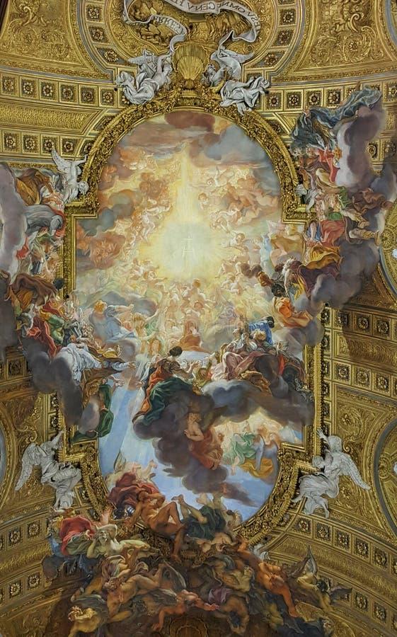 Triumph des Namens von Jesus, Kirche des Gesu, Rom, Italien stockbilder