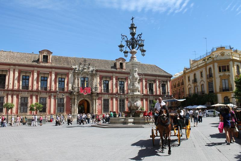 Triumph kwadrat w Seville zdjęcie stock